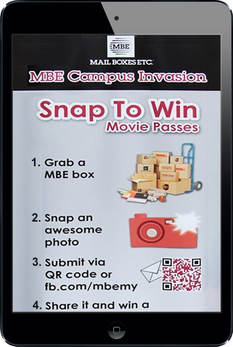 Mail Boxes ETC - Snap To Win