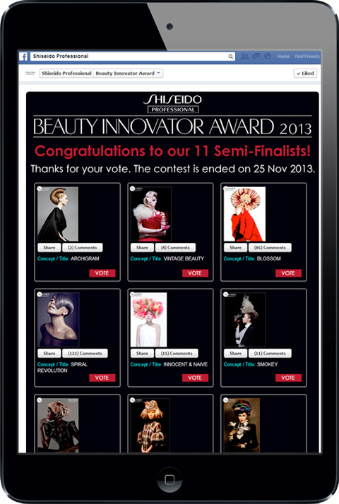 Shiseido Professional - Beauty Innovator Award 2013
